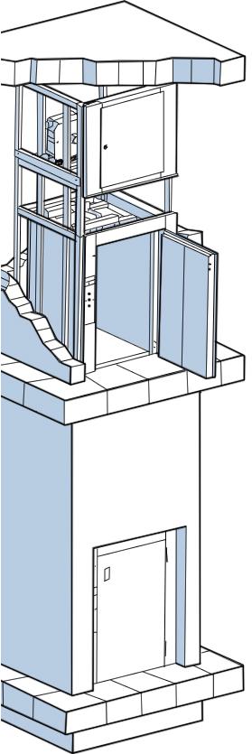 Малые грузовые лифты - схема.