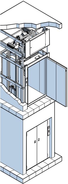 Грузовые лифты - схема.